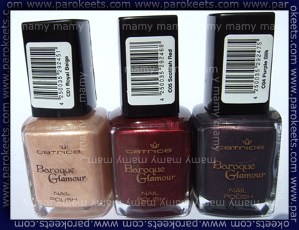 Catrice Baroque Glamour polishes