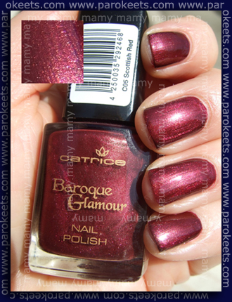 Catrice Baroque Glamour - Scottish Red