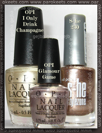 OPI I Only Drink Champagne, OPI Glamour Game, S-he 230