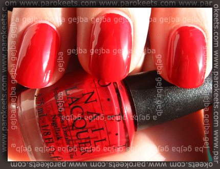 OPI Little Red Wagon