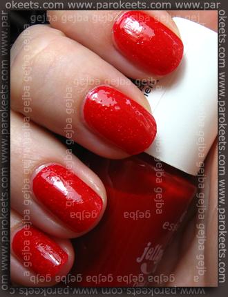 Essence Cherry Juice + Orly Prisma Gloss Gold