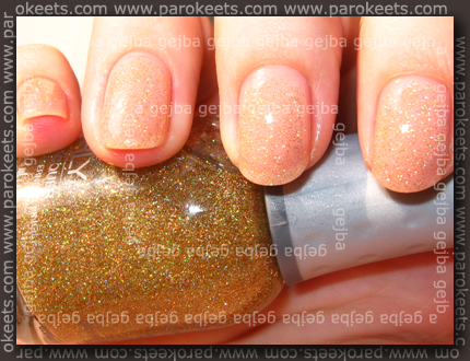 Essence Cotton Candy + Orly Prisma Gloss Gold