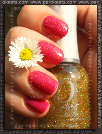 Essence Verry Berry + Orly Prisma Gloss Gold