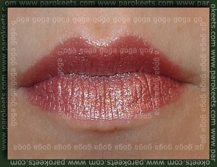 MAC: Plum Dandy lipstick swatch by Parokeets