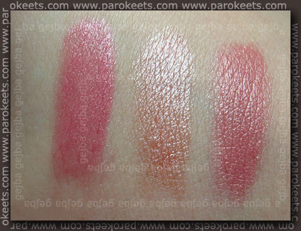 Rimmel lipsticks - Dizzy, Dreamy in Airy Fairy
