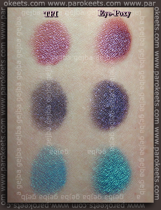 Sweetscents - Plum Shimmer, Dark Wine Shimmer in Royal Peacock