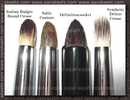 Crease brushes