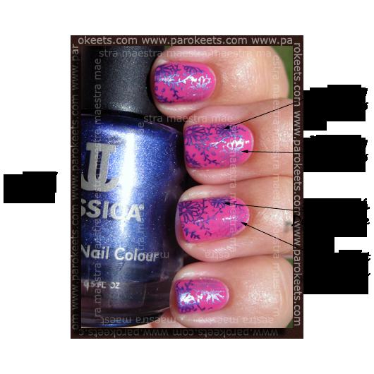 Avon - Nailwear Pro - Viva Pink in Konad m61