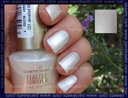 Catrice, 01 Jewelled White