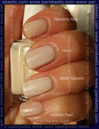 Essie white nail polishes comparison