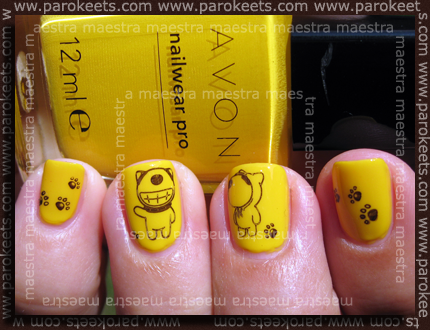 Avon Sunshine + Konad m10