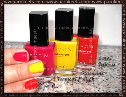 Avon - Tropical Punch, Sunshine in Coral Bikini