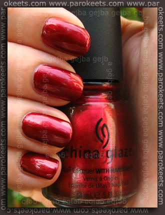China Glaze – Retro Diva – Thunderbird