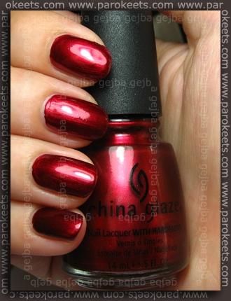 China Glaze Retro Diva - Thunderbird