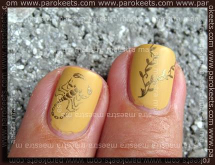 Ciate Paint Pots - Silk Stockings + Essie - Matte About You + Konad m21, m28