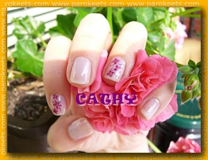 Cathy: S-he 277, Essence stampy set+Wild berry sorbet