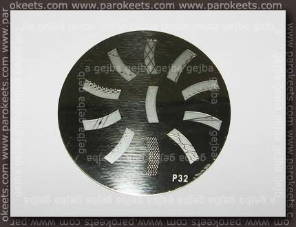 Chez-Delaney nail art šablona P32
