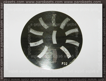 Chez-Delaney Stamping Nail Art Image plate P32