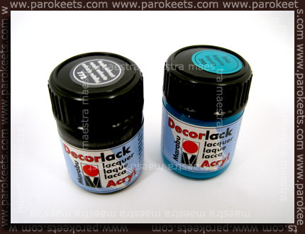 L: Metallic Anthracite, R: Turquoise