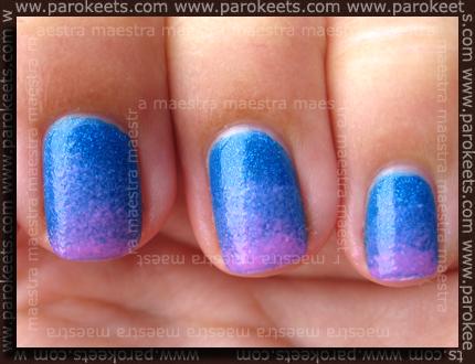 Sponge gradient manicure