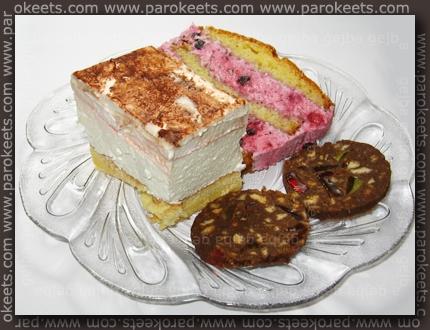 Trnovska rezina, Gozdni sadeži aka Peščeni kolač, Čokoladna klobasa