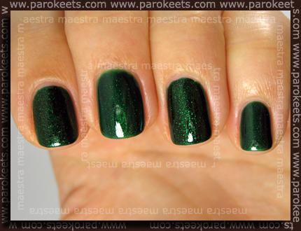 Emerald Sparkle - 2 coats, Las Vegas - 3 coats