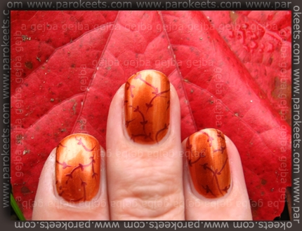 Golden Rose 224 + China Glaze Short&Sassy + CD H23