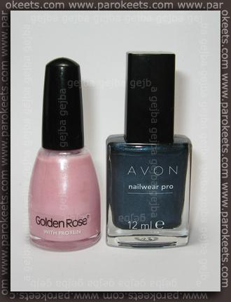 Golden Rose 246 + Avon Blue Flare