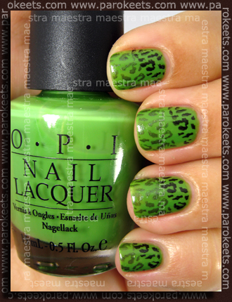OPI - Green-wich Village + Konad - m24 with black special polish and S-he 370