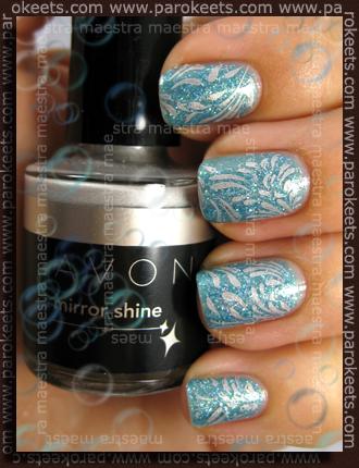 Bling - Bling Ocean + Chez-Delaney H20, Avon - Silver Foil