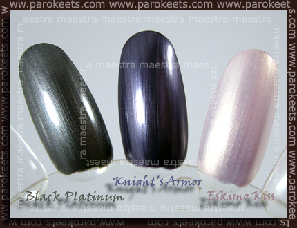 CND - Black Platinum, Knight's Armor, Eskimo Kiss