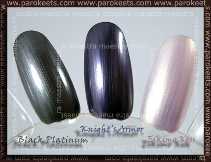 CND - Black Platinum, Knight's Armor, Eskimo Kiss