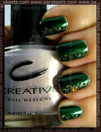 Calvin Klein - Emerald Green + Chez-Delaney P30 with CND - Eskimo Kiss