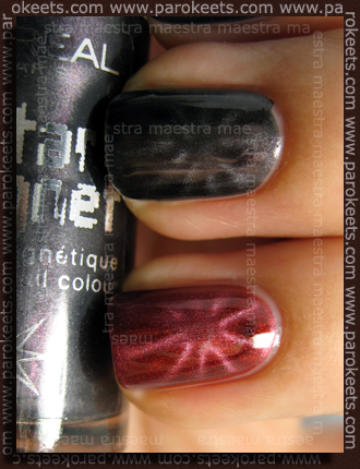 L'Oreal - Star Magnet - Red in Magnetic Grey