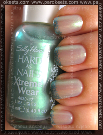 Sally Hansen - Lime Lights, China Glaze - Metallic Muse, Chez-Delaney P32