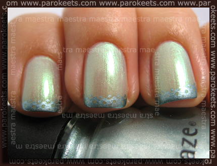 Sally Hansen - Lime Lights, China Glaze - Metallic Muse, Chez-Delaney P32