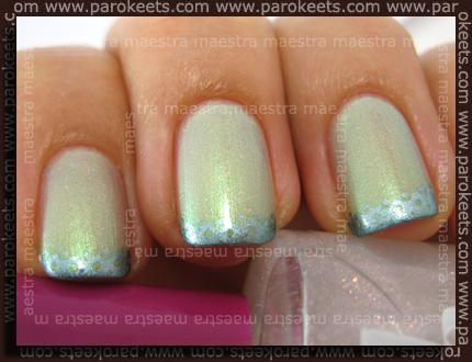 Sally Hansen - Lime Lights, China Glaze - Metallic Muse, b.pretty - Stars, Chez-Delaney P32