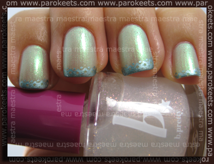 Sally Hansen - Lime Lights, China Glaze - Metallic Muse, b.pretty - Stars, Chez-Delaney P32