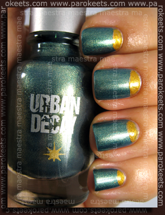 Urban Decay - Cult + Avon - Mirror Shine - Gold Foil + Vollare - Nail Artistic - 123