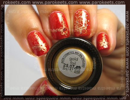Avon - Ruby Slippers, Golden Dream, CND - VIP Status + Konad IP m61 in m14 z Avon - Gold Foil