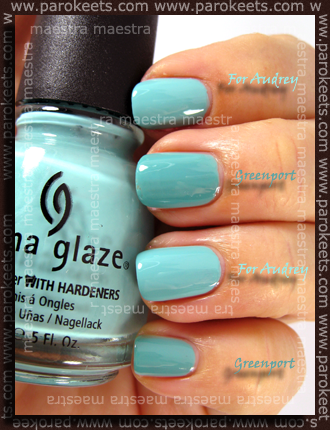 China Glaze - For Audrey Vs. Essie - Greenport