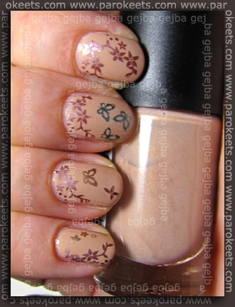 Gosg Ginger + Essence plati + China Glaze:2030, Hi-TEK, Metallic Muse, Robotika