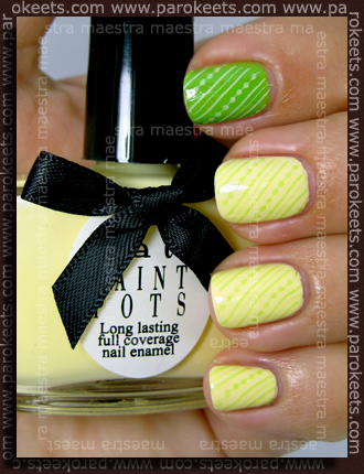 Ciate Paint Pots: Mojito and Lemon Sherbet + Konad IP m65