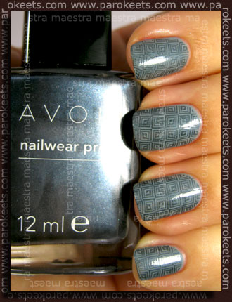 Franken - Not Concrete + Konad IP m63 with Avon - Blue Flare