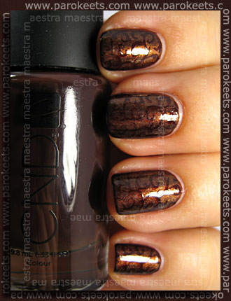 CND - Colour - Raisin In The Sun + Effect - Copper Shimmer + H22