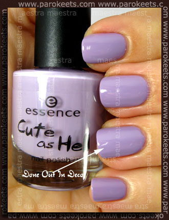 Essence - Cute As Hell - Date Me! vs. OPI - Done Out In Deco
