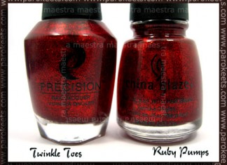 Precision - Twinkle Toes, China Glaze - Ruby Pumps