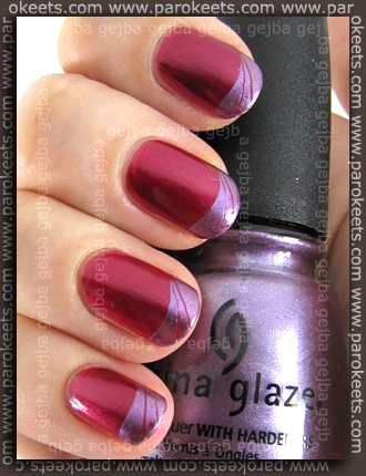 Butterfly 42 + China Glaze Harmony + P32