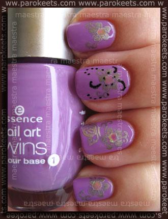 Essence - Be A Nail Artist - Joe + stampy + glitter + nail art pen