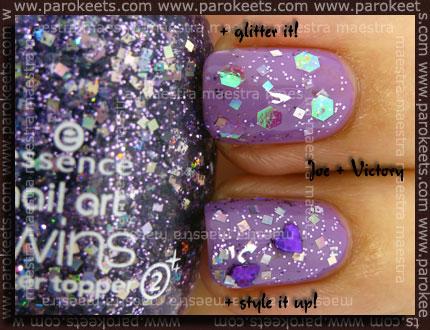 Essence - Be A Nail Artist - Joe + Victory + glitter